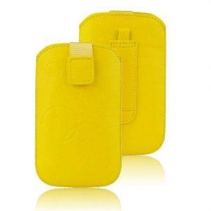 Univerzalni ovitek za mobilni telefon rumen - žepek