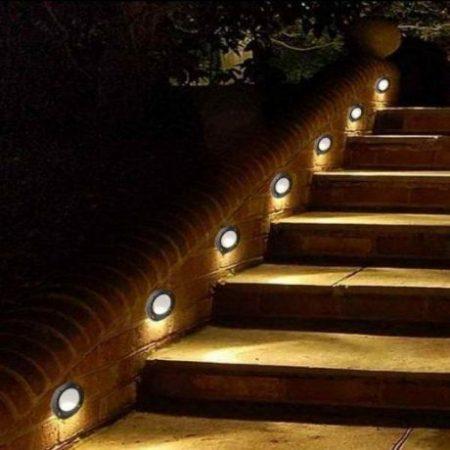 Zunanja vgradna LED svetilka 3W 4500K črna okrogla