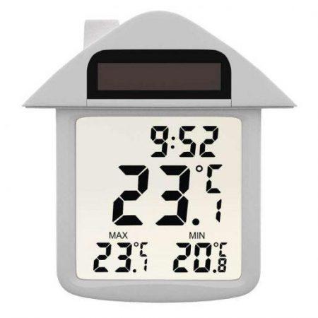 Zunanji digitalni termometer za na okno na solarne celice