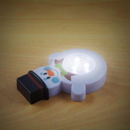 Otroška LED svetilka na dotik v obliki snežaka
