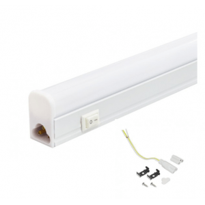 Podelementna T5 LED svetilka 20W 120cm s stikalom 4000K