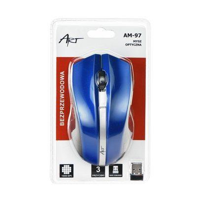 Brezžična računalniška miška modra