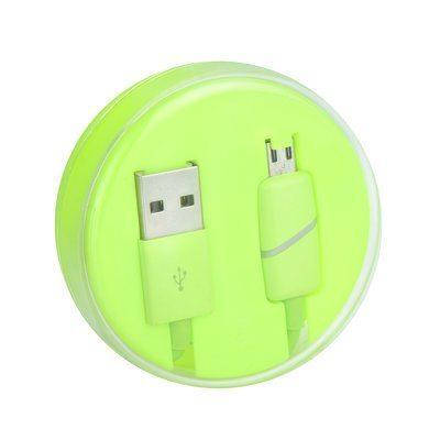 Micro USB kabel z LED indikatorjem polnjenja limeta