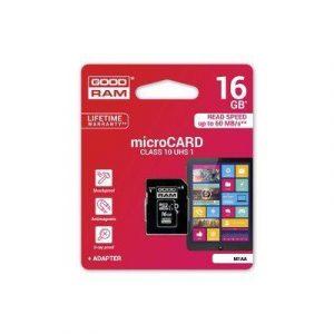 MicroSD spominska kartica 16GB CLASS 10 UHS I z adapterjem