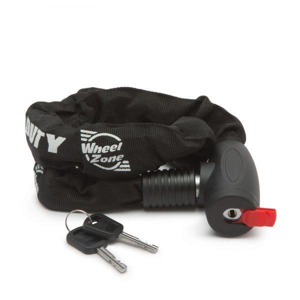 Močna ključavnica za moped, skuter ali kolo 8mm x 100 cm