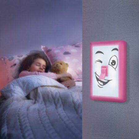 Otroška baterijska stenska svetilka obrazi z magneti