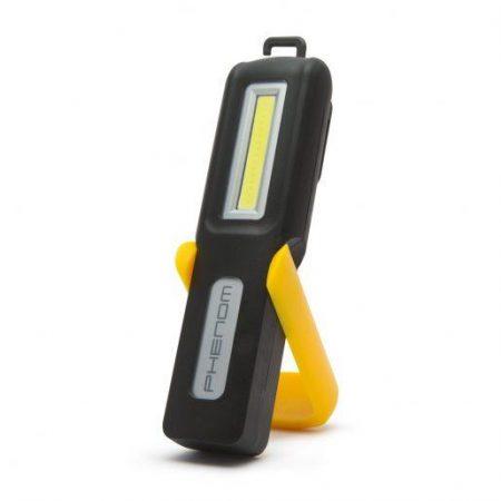 USB COB LED akumulatorska delovna svetilka 2v1 z magnetom in LED indikatorjem stanja baterije