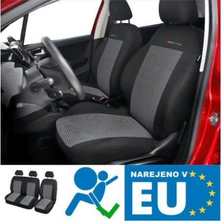 2+1 kakovostne univerzalne avtomobilske prevleke za kombi temno siv vzorec narejene v EU