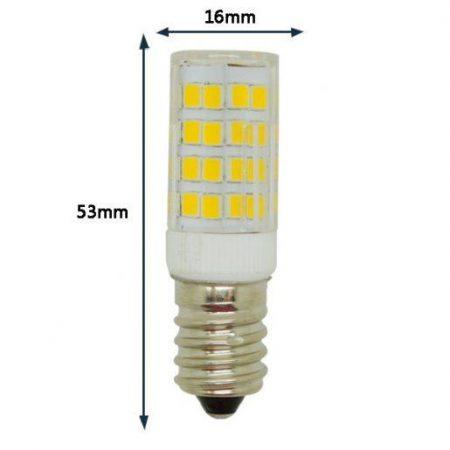 LED žarnica - sijalka E14 5W mini toplo bela 3000K 53x16mm