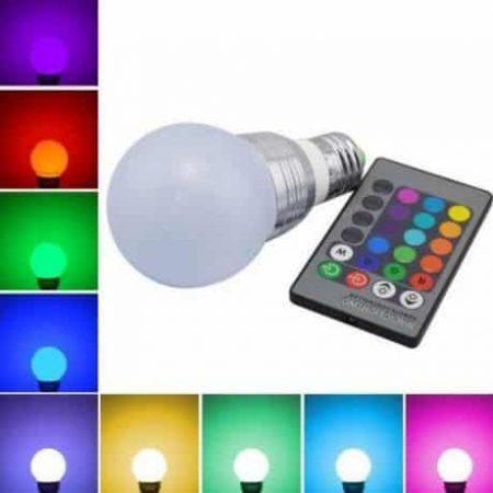 RGB LED E27 5W sijalka z IR daljinskim upravljalnikom
