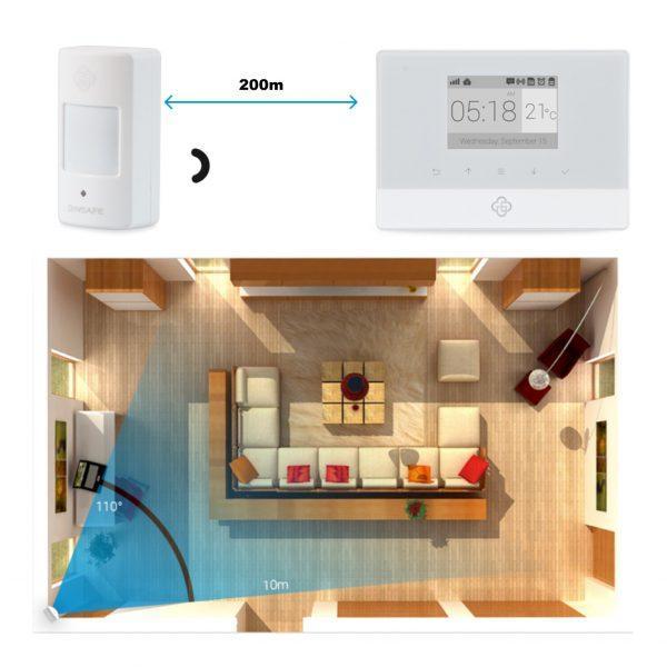 GSM SMS 99 conski brezžični alarmni sistem z LCD zaslonom in termometrom