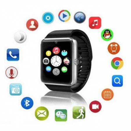 Pametna ura W1 z bluetooth povezljivostjo, režo za SIM in micro SD kartico, pedometrom za andorid in iOS