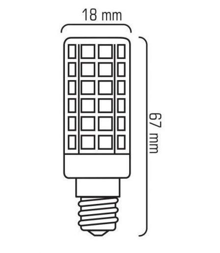 LED žarnica - sijalka E14 T18 10W mini toplo bela 3000K