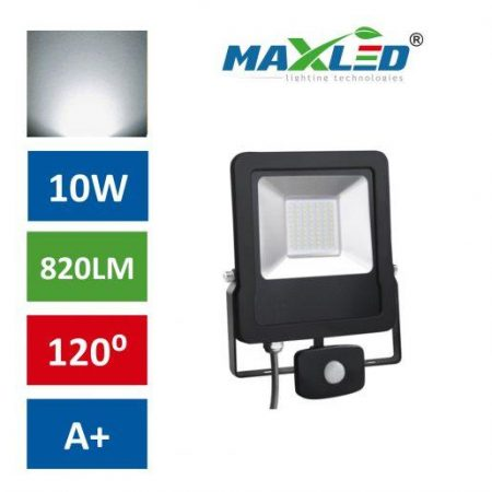 LED reflektor STAR PREMIUM 10W nevtralno beli 4500K s senzorjem