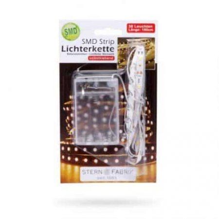 LED trak na baterije toplo beli 1m