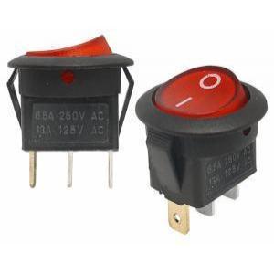 Stikalo z LED diodo SW01 12VDC rdeče