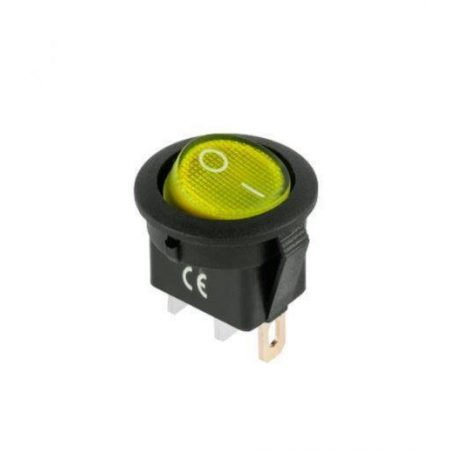 Stikalo z LED diodo SW01 12VDC rumeno
