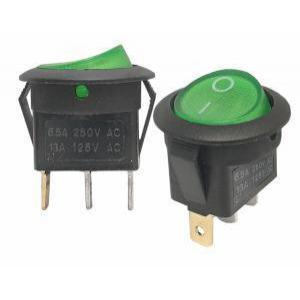 Stikalo z LED diodo SW01 230V zeleno
