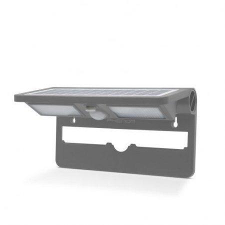 LED solarni reflektor IP65 s senzorjem gibanja 2 x 12 LED siv
