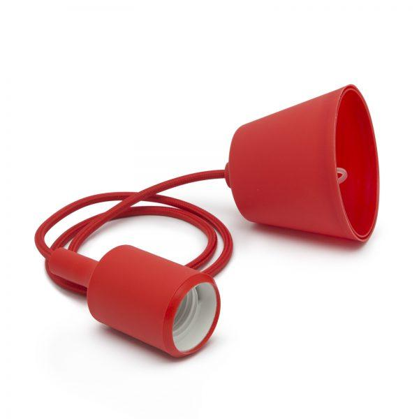 Silikonska svetilka E27 rdeča