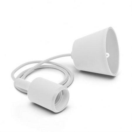 Silikonska svetilka E27 bela
