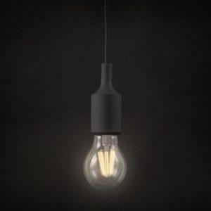 Silikonska svetilka E27 črna