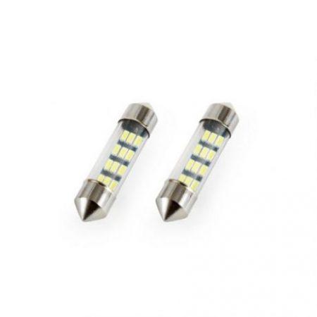 Avto LED sijalka FESTOON C5W 12V 36mm 3014 12 LED 2 kosa