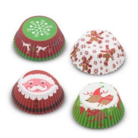Božični papirčki za muffine 100 kos