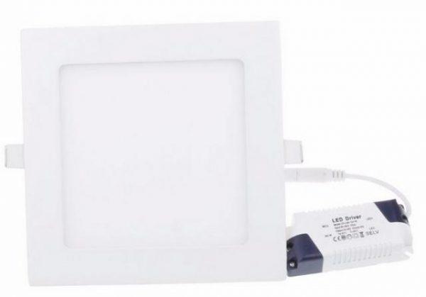 LED panel vgradni 12W nevtralno bel 4500K kvadratni