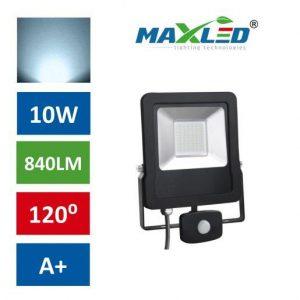 LED reflektor STAR PREMIUM 10W hladno beli 6000K s senzorjem