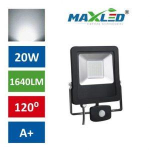LED reflektor STAR PREMIUM 20W nevtralno beli 4500K s senzorjem