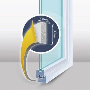 """Tesnilni trak za okna in vrata """"I"""" profil bel"""