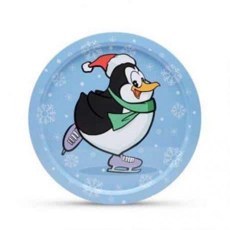 Pladenj z božičnim motivom pingvin