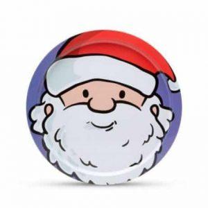 Pladenj z božičnim motivom božiček