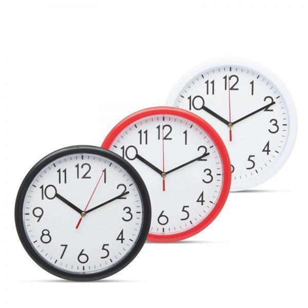 Stenska ura 22 cm več barv