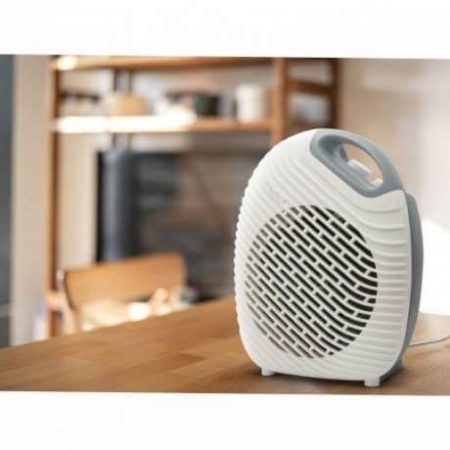 Dizajnerski termoventilator - kalorifer Vog&Arths s termostatom 1800W/2000W belo siv