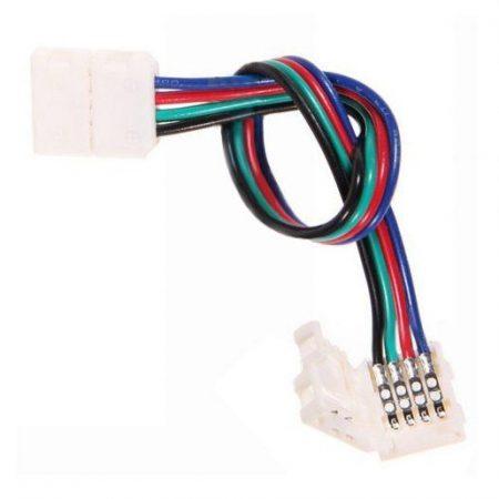 Konektor za RGB LED trakove tipa 5050 (10mm) obojestranski s kablom 14 cm obojestranski