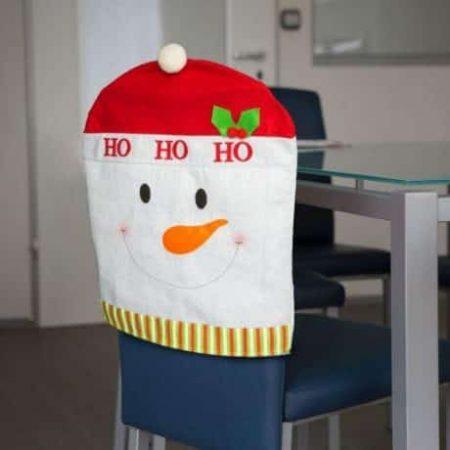 Božična prevleka za stol snežak