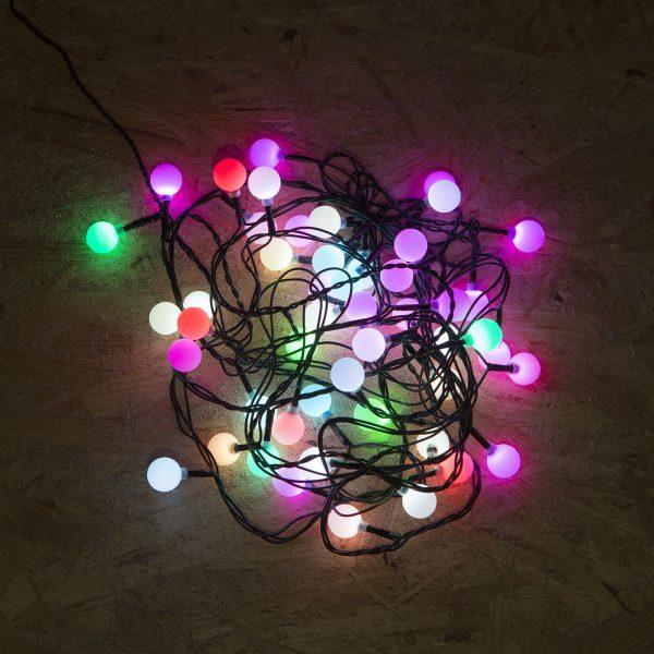Novoletne lučke za notranjo uporabo večbarvne 50 kos cherry z programatorjem