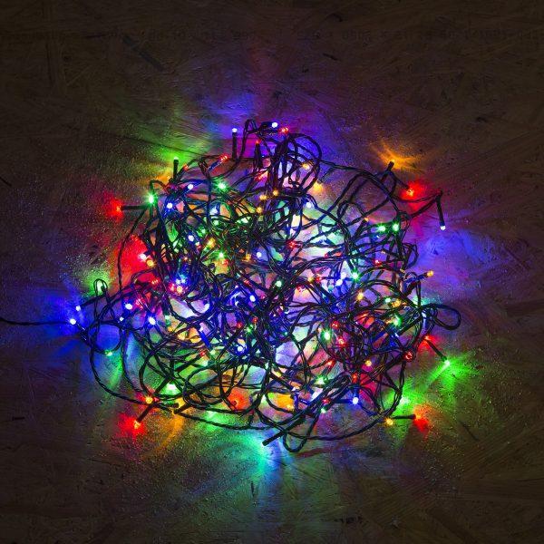 Novoletne lučke za notranjo uporabo večbarvne 5m 100 kos z programatorjem