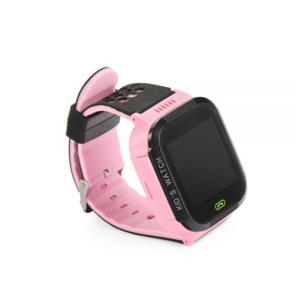Otroška pametna ura z GPS sledilnikom in telefonom roza