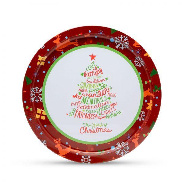 Pladenj z božičnim motivom smrečica