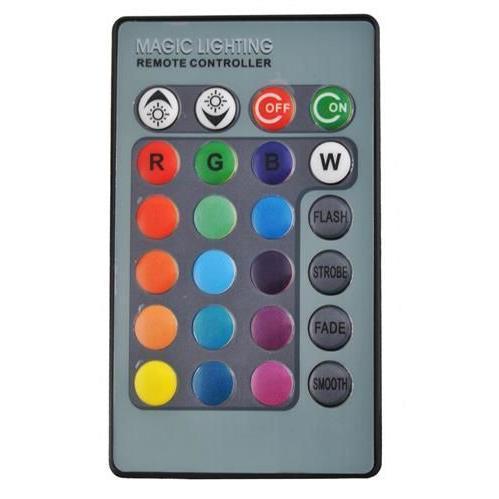 Večbarvna E27 RGB LED sijalka z daljincem 3W