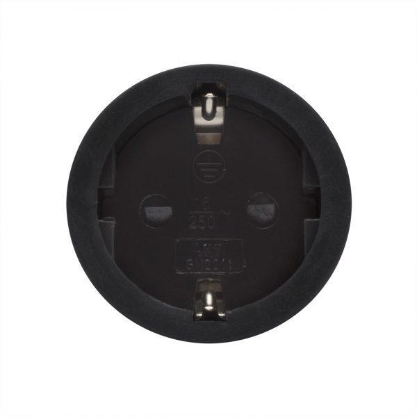Vtičnica šuko črna 250V 16A