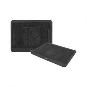 Podstavek z ventilatorjem za prenosni računalnik z ventilatorjem črn