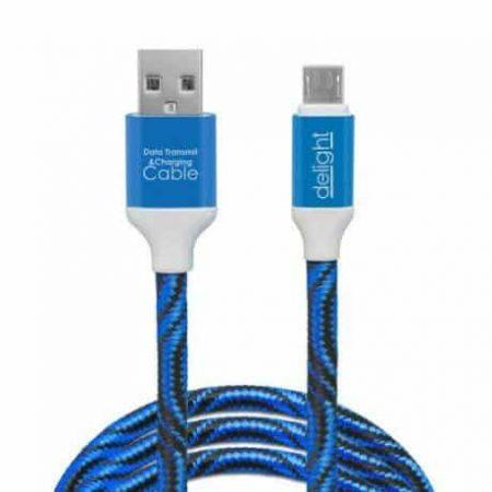 Kakovosten podatkovni micro USB kabel prevlečen s tkanino več barv