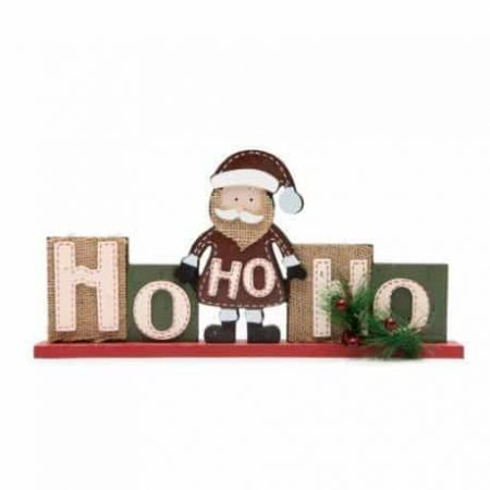 Lesena božična dekoracija z božičkom 32 x 15.2 cm