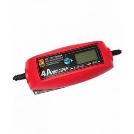 Polnilec za akumulatorje z mikroprocesorjem in LCD zaslonom 4A