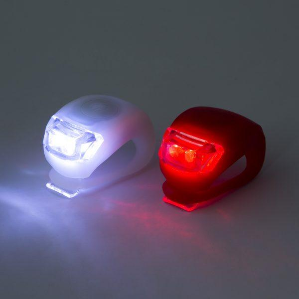 Rdeča in bela LED lučka za kolo