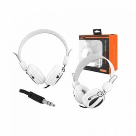 Slušalke naglavne 3,5mm bele 1,2m